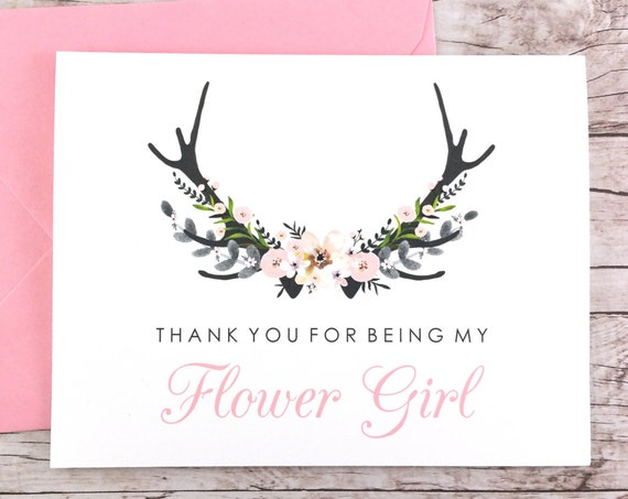 Thank You For Being My Flower Girl Card (FPS0024)