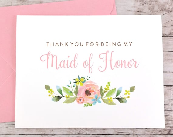 Thank You For Being My Maid of Honor Card (FPS0013)