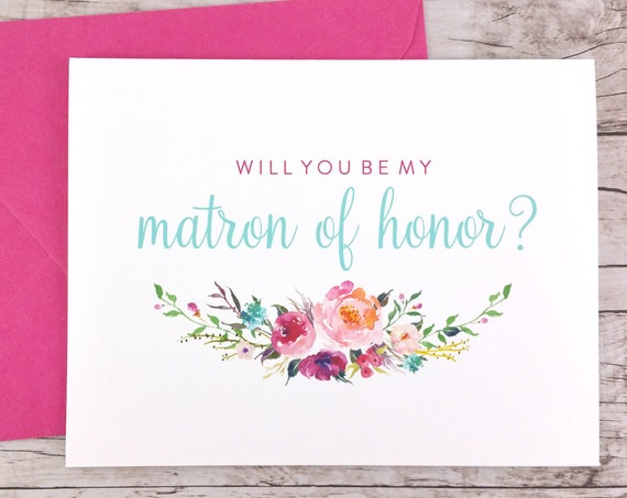 Will You Be My Matron of Honor Card (FPS0021)