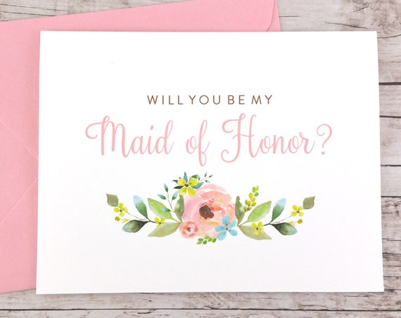 Will You Be My Maid of Honor Card (FPS0013)