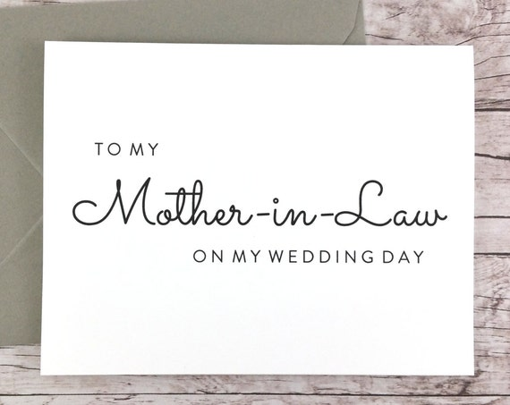 To My Mother-in-Law On My Wedding Day Card (FPS0016)