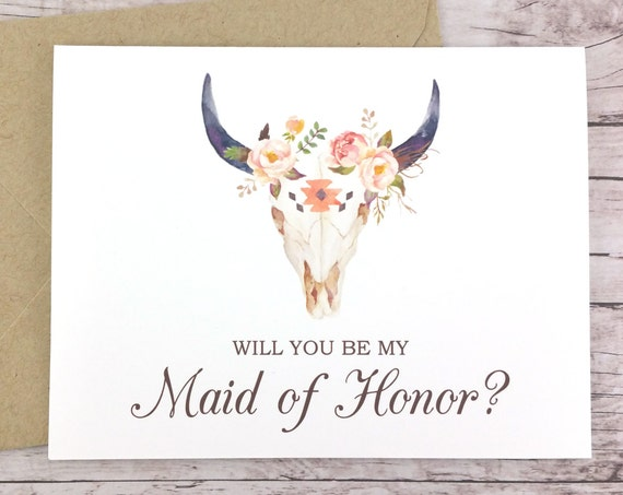 Will You Be My Maid of Honor Card (FPS0010)