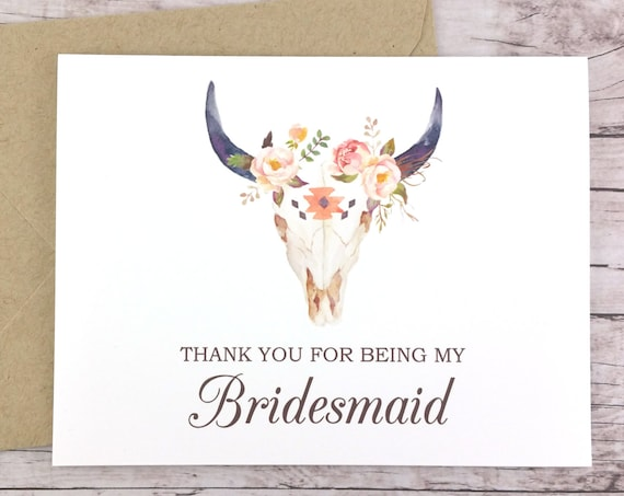 Thank You For Being My Bridesmaid Card (FPS0010)