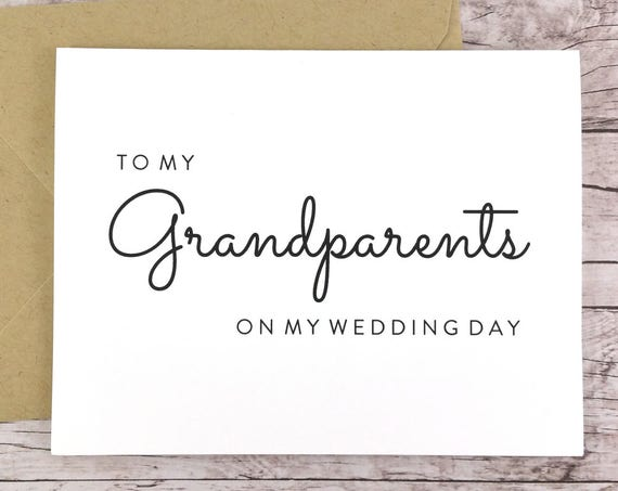 To My Grandparents On My Wedding Day Card (FPS0016)