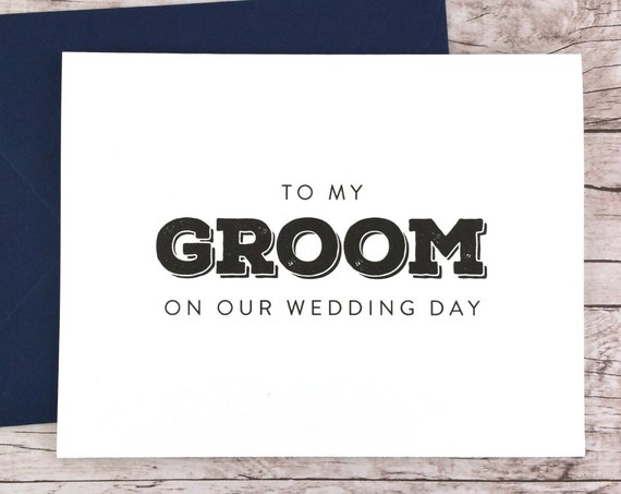 To My Groom On Our Wedding Day Card (FPS0039)