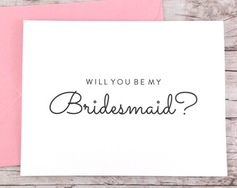 Will You Be My Bridesmaid Card, Bridesmaid Proposal Card, Wedding Card, Bridesmaid Gift - (FPS0016)