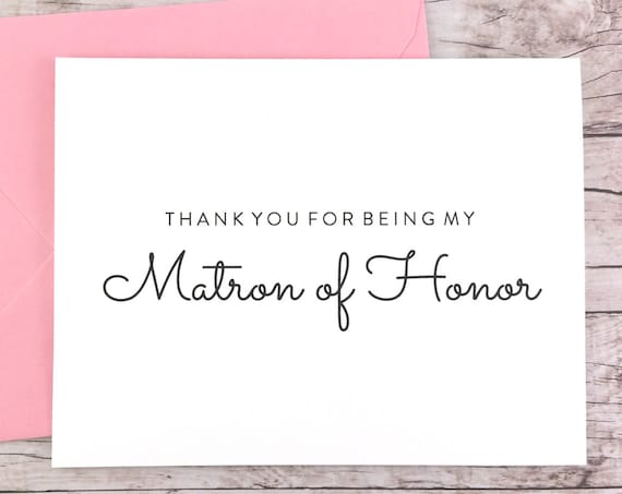Matron Of Honor Cards Firefly Paper Studio