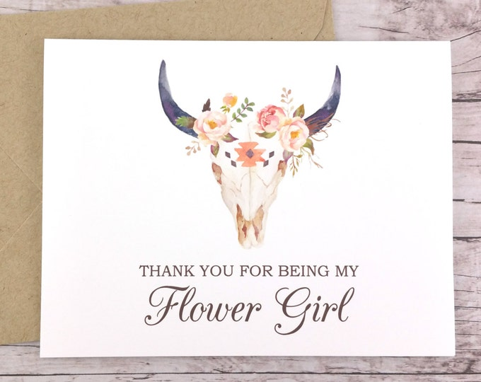 Thank You For Being My Flower Girl Card (FPS0010)