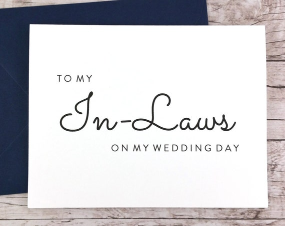To My In-Laws On My Wedding Day Card (FPS0016)