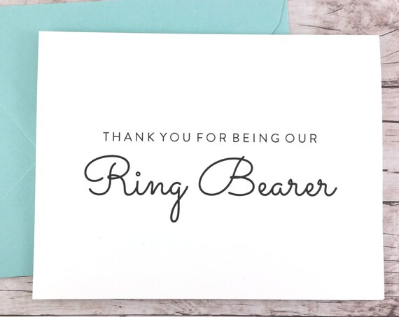 Thank You For Being Our Ring Bearer Card (FPS0016)