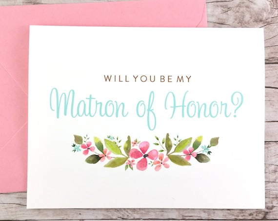 Will You Be My Matron of Honor Card (FPS0026)