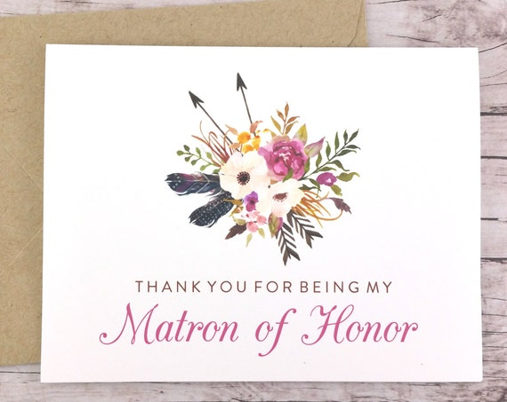 Thank You For Being My Matron of Honor Card (FPS0022)