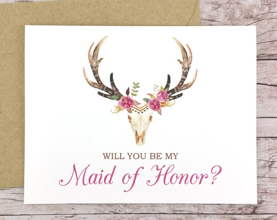 Will You Be My Maid of Honor Card (FPS0044)