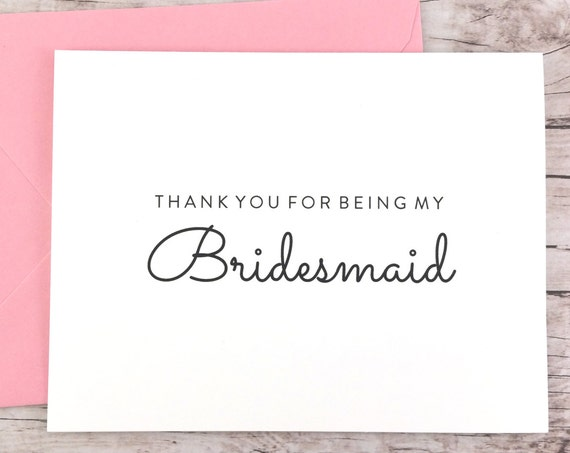 Thank You For Being My Bridesmaid Card (FPS0016)