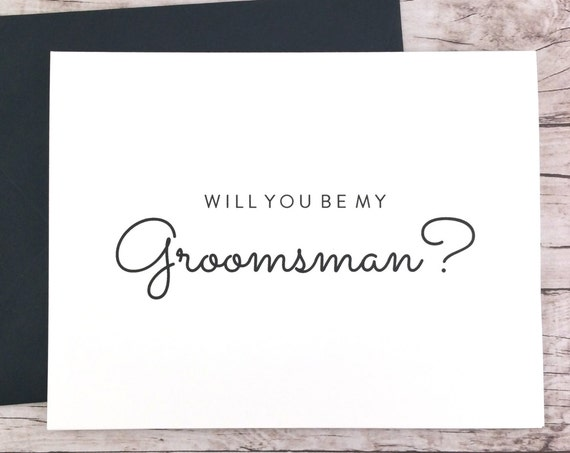 Will You Be My Groomsman Card (FPS0016)