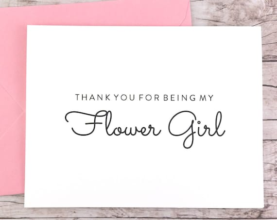 Thank You For Being My Flower Girl Card (FPS0016)