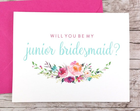 Will You Be My Junior Bridesmaid Card (FPS0021)