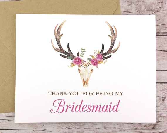 Thank You For Being My Bridesmaid Card (FPS0044)
