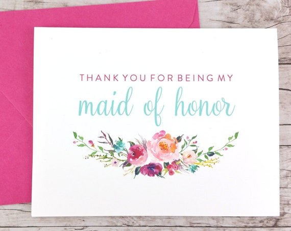 Thank You For Being My Maid of Honor Card (FPS0021)