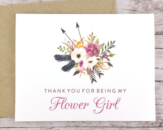 Thank You For Being My Flower Girl Card (FPS0022)