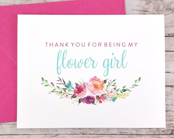 Thank You For Being My Flower Girl Card (FPS0021)