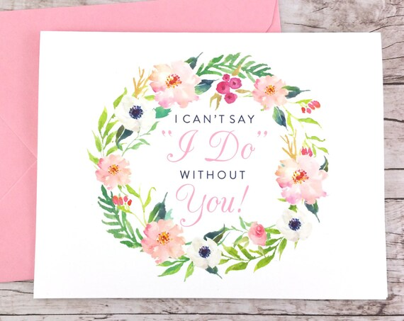 I Can't Say I Do Without You Card (FPS0031)