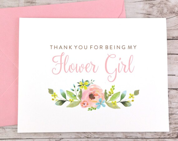 Thank You For Being My Flower Girl Card (FPS0013)