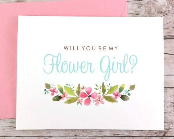 Will You Be My Flower Girl Card (FPS0026)
