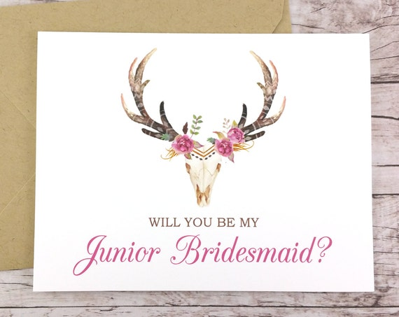 Will You Be My Junior Bridesmaid Card (FPS0044)