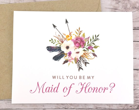 Will You Be My Maid of Honor Card (FPS0022)