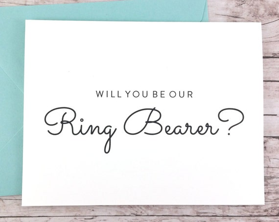 Will You Be Our Ring Bearer Card (FPS0016)