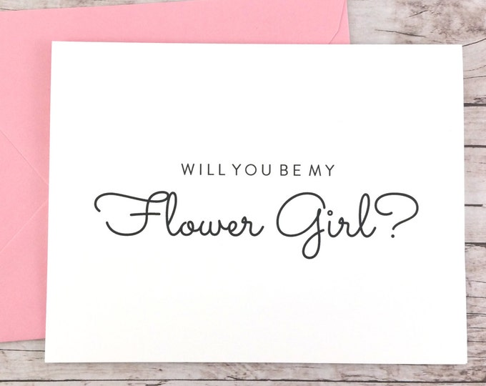 Will You Be My Flower Girl Card (FPS0016)