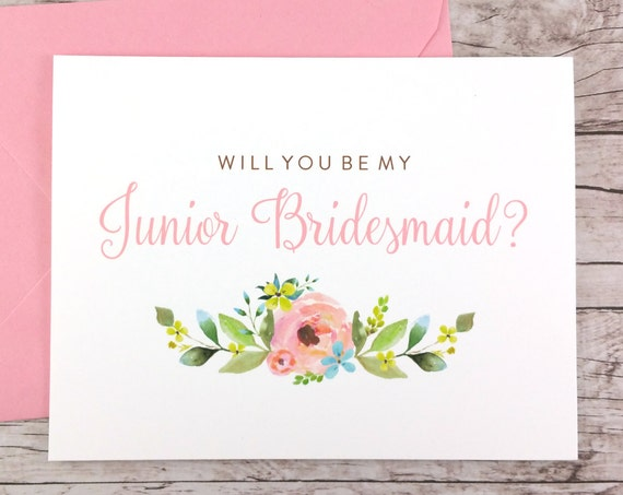 Will You Be My Junior Bridesmaid Card (FPS0013)