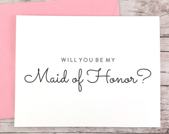 Will You Be My Maid of Honor Card (FPS0016)