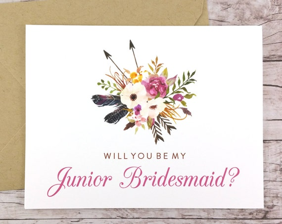 Will You Be My Junior Bridesmaid Card (FPS0022)