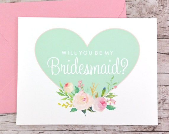 Will You Be My Bridesmaid Card (FPS0008)