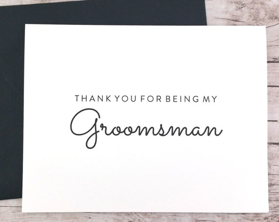 Thank You For Being My Groomsman Card (FPS0016)