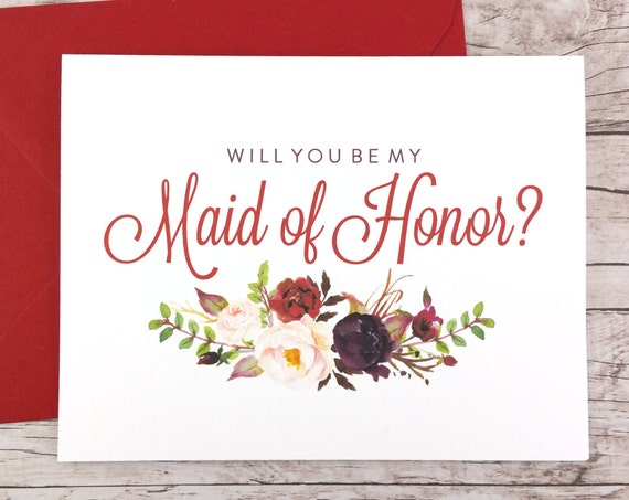Will You Be My Maid of Honor Card (FPS0050)