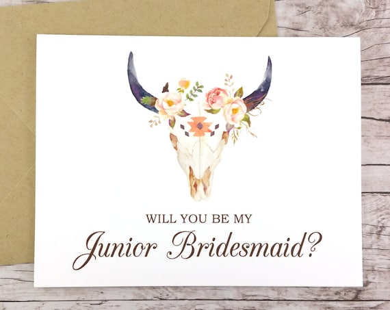 Will You Be My Junior Bridesmaid Card (FPS0010)
