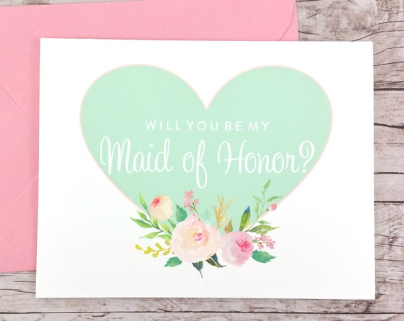 Will You Be My Maid of Honor Card (FPS0008)