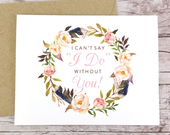 I Can't Say I Do Without You Card (FPS0029)