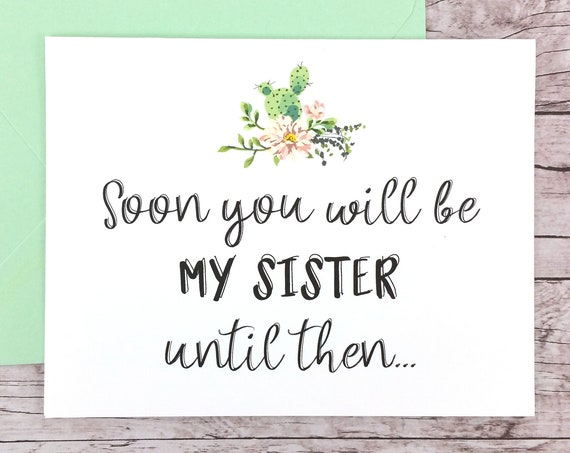 Soon You Will Be My Sister Card (FPS0065)