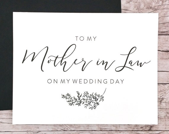 To My Mother in Law On My Wedding Day Card (FPS0062)