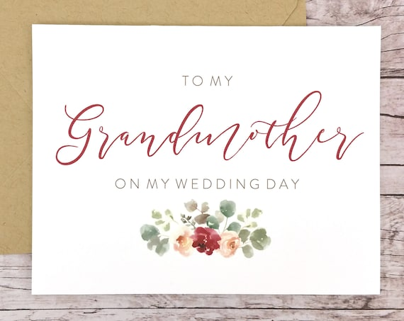 To My Grandmother On My Wedding Day Card (FPS0066)