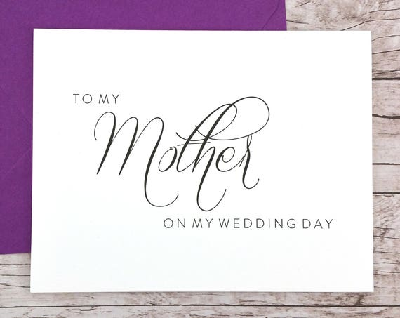 To My Mother On My Wedding Day Card (FPS0058)