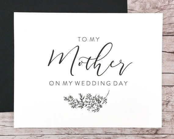 To My Mother On My Wedding Day Card (FPS0062)
