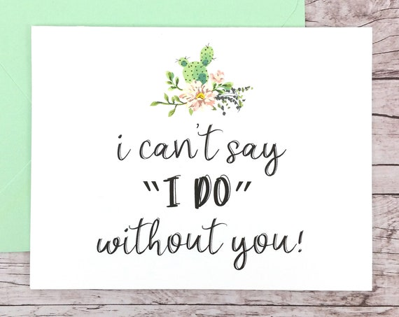 I Can't Say I Do Without You Card (FPS0065)