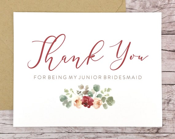 Thank You For Being My Junior Bridesmaid Card (FPS0066)