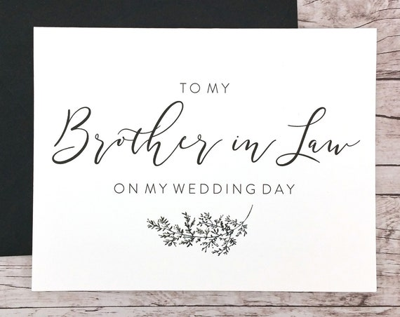 To My Brother in Law On My Wedding Day Card (FPS0062)