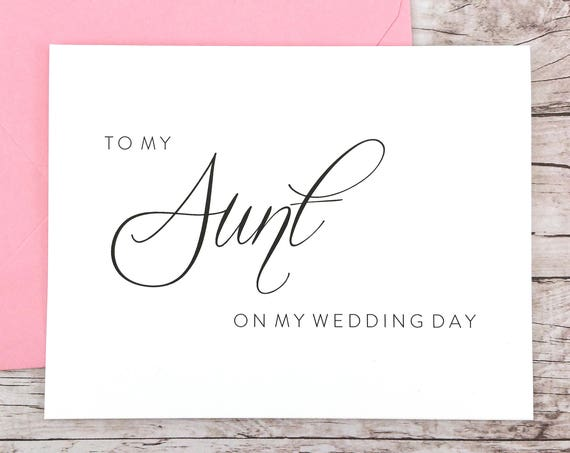 To My Aunt On My Wedding Day Card (FPS0058)